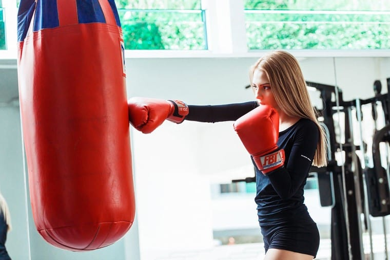 woman boxing exercise