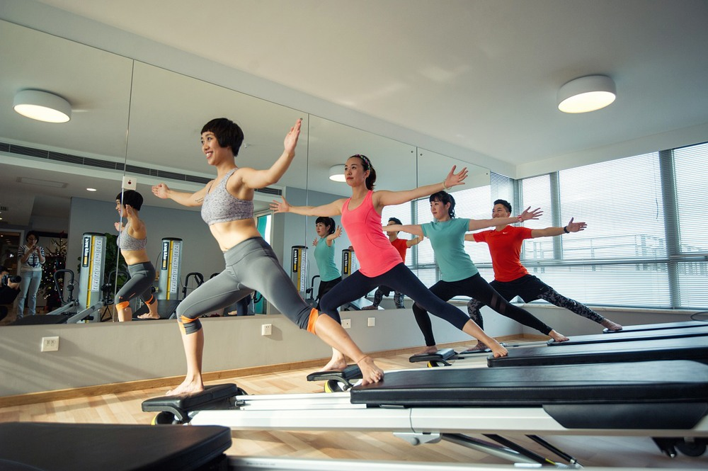 weights health happy wiht pilates