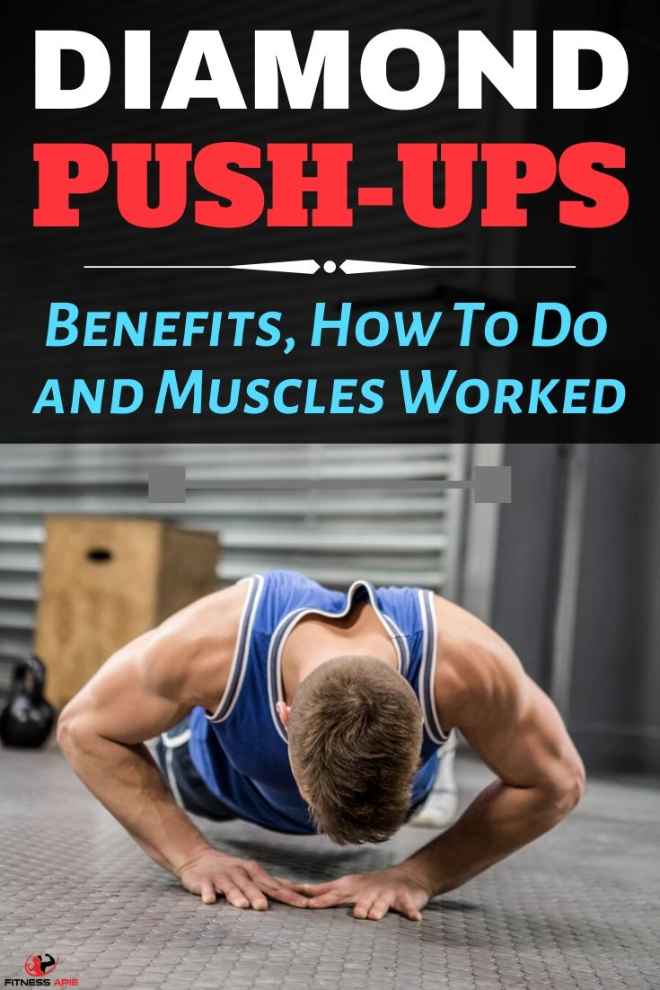 The diamond push-up (or triangle push-up) is a compound body workout exercise that develops your chest, shoulders, back, core, triceps, quads, and glutes. It focusses on your upper body parts. In this article, we are going to tell you what diamond push-up is, its benefits and how to perform it. Also, we are going to tell you the muscles in your body that you will work by performing this body workout. #diamondpushup #exercises #workout #pushups #upperbody