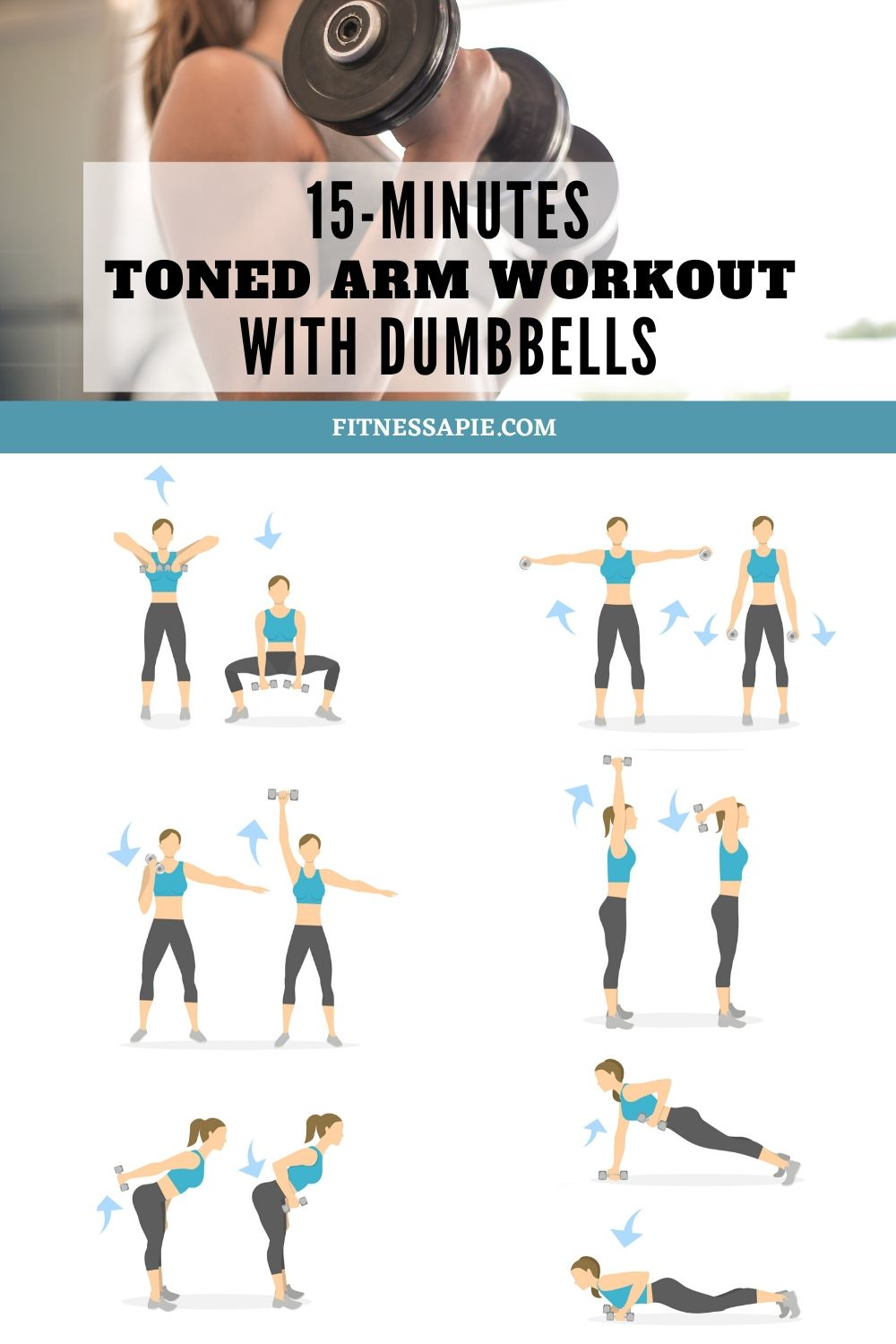 15-Minutes Toned Arm Workout With Dumbbells