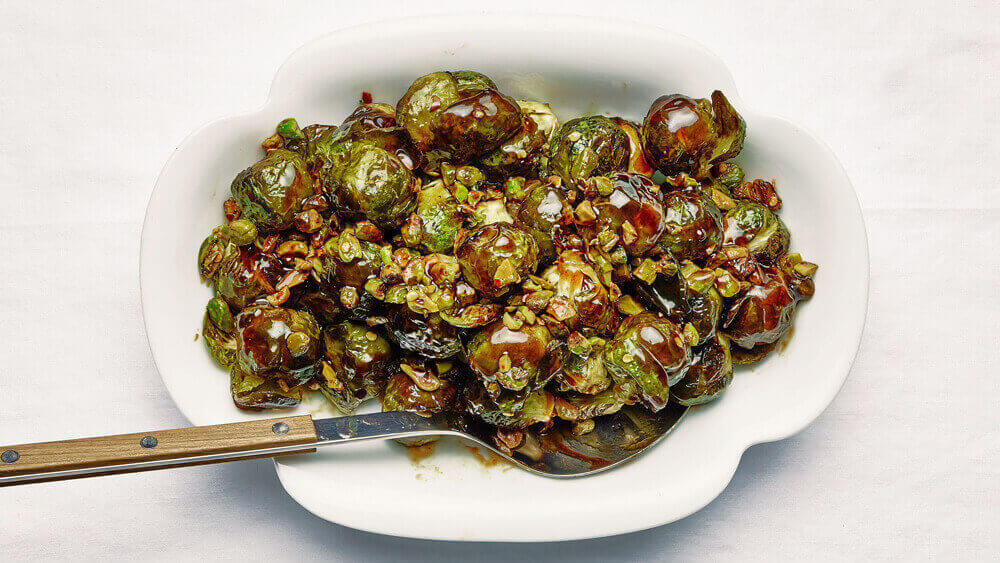 Brussel Sprouts With Pistachios and Lime