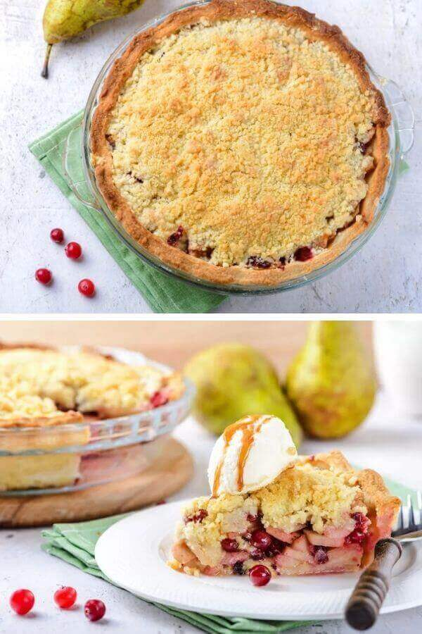 Vegan Cranberry and Pear Pie
